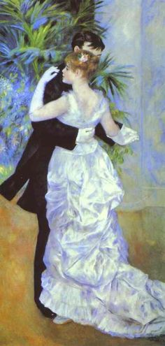 "Renoir's ""Dance in the City"". Another of my most favorite paintings."