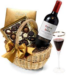 The Red Wine & #Chocolate Hamper by Regency Hampers
