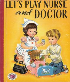 Let's Play Nurse and Doctor Vintage Treasure by MyLittleBookGarden