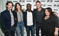 EW PopFest: See the Photos | Milo Ventimiglia, Mandy Moore, Sterling K. Brown, Justin Hartley, and Chrissy Metz (<em>This Is Us</em>) | EW.com