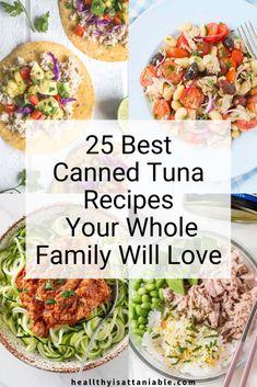 Can Tuna Recipes Healthy, Tuna Steak Recipes, Canned Tuna Recipes, Easy Salad Recipes, Seafood Recipes, Healthy Eating, Clean Eating, Canned Foods, Sushi Recipes