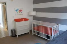 Baby Jack's Grey & Orange Nursery Nursery Ideas, Room Ideas, Orange Nursery, Twin Boys, Designer Toys, Baby Design, New Room, Baby Things, Baby Room