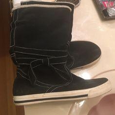 Black boots Black converse like boots. Never worn Rocket Dog Shoes Winter & Rain Boots