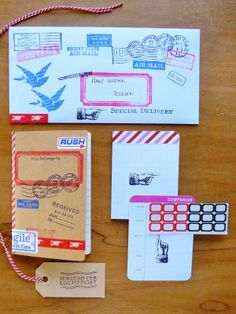 Inspiration and Outgoing: Dennison labels