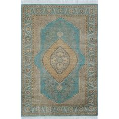 Vibrance Hand Knotted Area Rug - 4x6 Blue | Overstock.com Shopping - The Best Deals on 3x5 - 4x6 Rugs