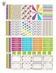 CARNIVAL Weekly Planner Sticker Kit/Printable's Happy