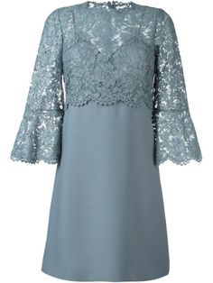 VALENTINO Lace Crepe Couture Dress. #valentino #cloth #dress
