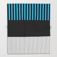 Colour Pop Stripes - Turquoise Throw Blanket by laec Turquoise Throw Blanket, Colour Pop, Color, Throw Blankets, Stripes, Colour, Color Pop, Line Art, Colors