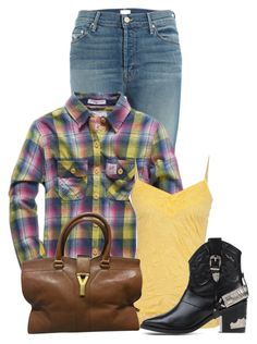 """""""Untitled #12392"""" by nanette-253 ❤ liked on Polyvore featuring Mother, Superdry, Yves Saint Laurent and Toga"""