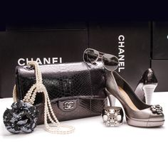 Forever dreaming of Chanel...Shop these items on our website or in our Tampa boutique! . . . #chanel #cc #cclogo #chaneljewelry #chanelshoes #chanelbag #chanelsunglasses #jewelry #accessories #sunglasses #heels #pumps #designer #designershoes #designerbag #designerjewelry #ccjewelry #cuff #bangle #blackandblue #blackandblueoutfit #outfitinspiration