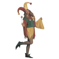 Men's Jester Kings Costume Size: One Size Fits Most, Red