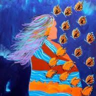 Artist:  Lee Claremont  ♥ lis The Longest Journey, Acrylic Canvas, Different Flowers, First Nations, Stargazing, Painted Rocks, Daughter, The Incredibles, Painting