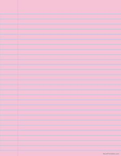 Printable Pink Wide Ruled Notebook Paper for Letter Paper Notebook Paper, Writing Paper, Note Paper, Printable Paper, Paper Background, Free Printables, Notes, Templates, Lettering