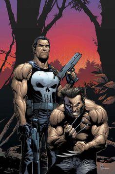 Wolverine and Punisher by Gary Frank (las garras un pelín más largas y perfecto)