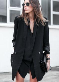 Love the all black attire