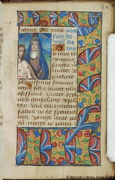 Book of Hours, MS W.30 fol. 20r - Images from Medieval and Renaissance Manuscripts - The Morgan Library & Museum