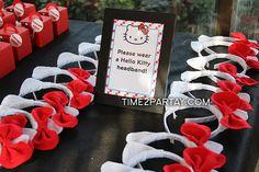 Hello Kitty party idea. Headbands