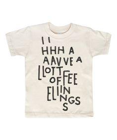 Kid + Kind White A Lot of Feelings Organic Tee - Toddler & Kids