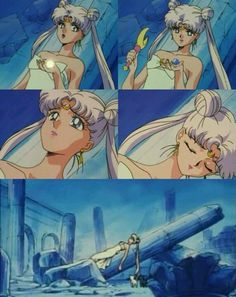 Queen Serenity - omg one of my most favourite moments of Sailor Moon, even though it's so sad