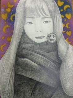 Selfie grid drawing after