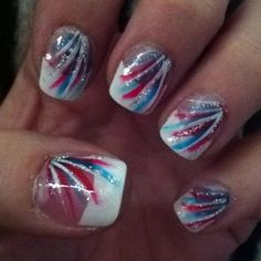 Memorial Day nails. God bless USA!