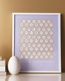 Have loved ones sign this guest book poster that you can proudly display long after your wedding day.