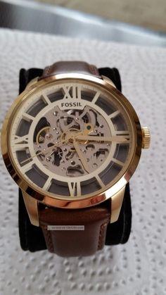 Fossil Uhr - Townsman Automatik Leder - Braun Armbanduhren Bild