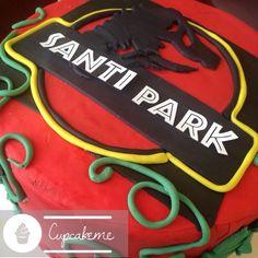 Jurassic park cake !! #jurassicpark #cake #fondant
