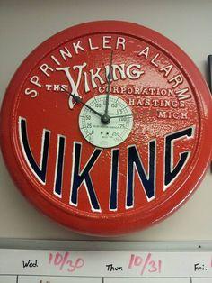 Viking fire sprinkler alarm converted to clock