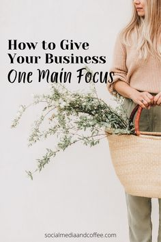 If you are a business owner, you may have found yourself in a position where you and your business are doing EVERYTHING. Here's how to step back and give your business one main focus. Entrepreneur | small business | online business | marketing | Facebook marketing | Instagram marketing | blog | blogging | blogger | business tips | marketing ideas | social media marketing | #socialmedia #onlinebusiness #entrepreneur #smallbusiness #marketing #business #businesstips #blog #blogging #blogger