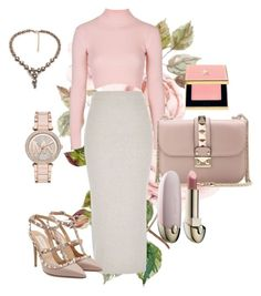 """Untitled #32"" by madewonderfully on Polyvore featuring Topshop, River Island, Valentino, Guerlain, Michael Kors, Yves Saint Laurent, women's clothing, women, female and woman"