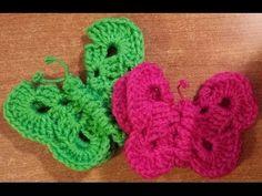 ▶ La farfalla a crochet - Tutorial uncinetto - YouTube