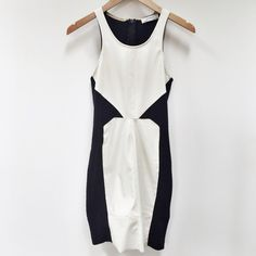 Zara | black and white leather dress Size small. Excellent condition. No trades. Zara Dresses