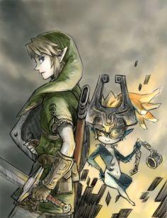 Fantastic Legend if Zelda: Twilight Princess fanart! I think it's made by someone called Danbanko?