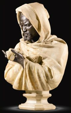 Bust of Othello, the Moor of Venice | by Pietro Calvi (Italian, 1833-1884) | marble and bronze, height 84,5 cm.