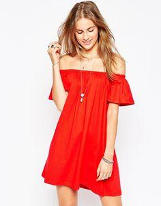 ASOS COLLECTION ASOS Gypsy Off Shoulder Mini Dress