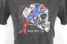6d06d175e571 Vintage Fuct t shirt x-fuct store skate Large Size bape Street Wear Skull  Logo