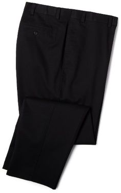 Savane Men's Big  Tall Wrinkle Free Flat Front Twill Pant