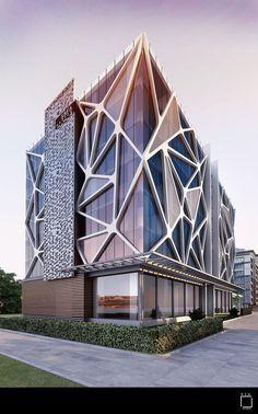 32 Amazing Photo of Origami Architecture Design Origami Architecture Design Eleg. Plans Architecture, Modern Architecture Design, Architecture Office, Facade Design, Futuristic Architecture, Concept Architecture, Amazing Architecture, Ancient Architecture, Landscape Architecture