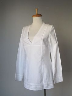70s White Cotton and Lace Free Spirits Bohemian Tunic Top @VintageFashionRetro $24.99 #looksgoodonya
