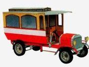Laurin & Klement Autobus Vintage Paper Car Free Vehicle Paper Model Download