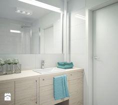 Aranżacje wnętrz - Łazienka: Łazienka w delikatnych kolorach - MIKOŁAJSKAstudio. Przeglądaj, dodawaj i zapisuj najlepsze zdjęcia, pomysły i inspiracje designerskie. W bazie mamy już prawie milion fotografii!
