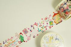 Aimez Washi Masking Tape Colourful Letter Collage by craftyjapan