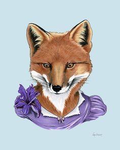 Fox Lady Art Print – Berkley Illustration 5x7