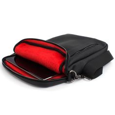 """Amazon.com: Tablet Bag, Snugg Leather Crossbody Shoulder 12.9"""" Inch Tablet Bag [Soft Interior] For iPad, Samsung Tab, Google Pixel C, Surface Pro, MacBook Air - Black: Computers & Accessories"""