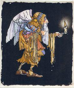 James Christensen - Old Angel Etching