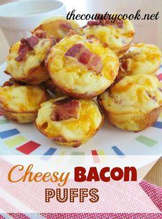 Cheesy Bacon Puffs