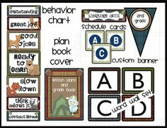 Camping Themed Classroom Printables.