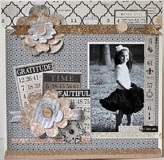 TERESA COLLINS DESIGN TEAM: Vintage Finds layout with Suzanne Sergi