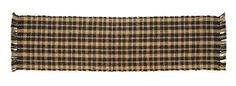"""Black Jute Plaid Runner 13x48"""" by Victorian Heart. $12.45. See Product Description below for more details!. Product measurements and additional details listed in title and/or Product Description below.. Extensive line of matching items and accessories available! (Search by Collection name). High end quality and workmanship!. All cloth items in our collections are 100% preshrunk cotton. All braided items (like rugs, baskets, etc.) are 100% jute. 100% jute, woven into a plaid patt..."""